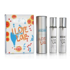 Набор Moschino Love love edp для женщин 3*20 мл